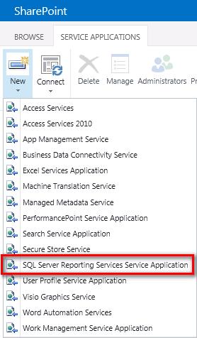 Service APP SSRS